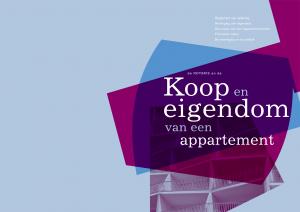 """Weergave voorpagina folder notaris """"Koop en eigendom van een appartement"""" uit september 2010."""
