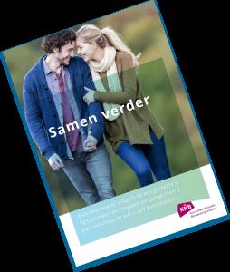 """Afbeelding van de voorpagina van de brochure """"Samen verder"""" over samenlevingsvormen."""