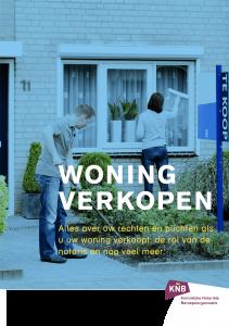 Illustratie: afbeelding van de voorpagina van de brochure over het verkopen van een huis.