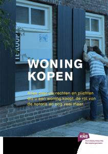 Illustratie: afbeelding van de voorpagina van de brochure over het kopen van een huis.