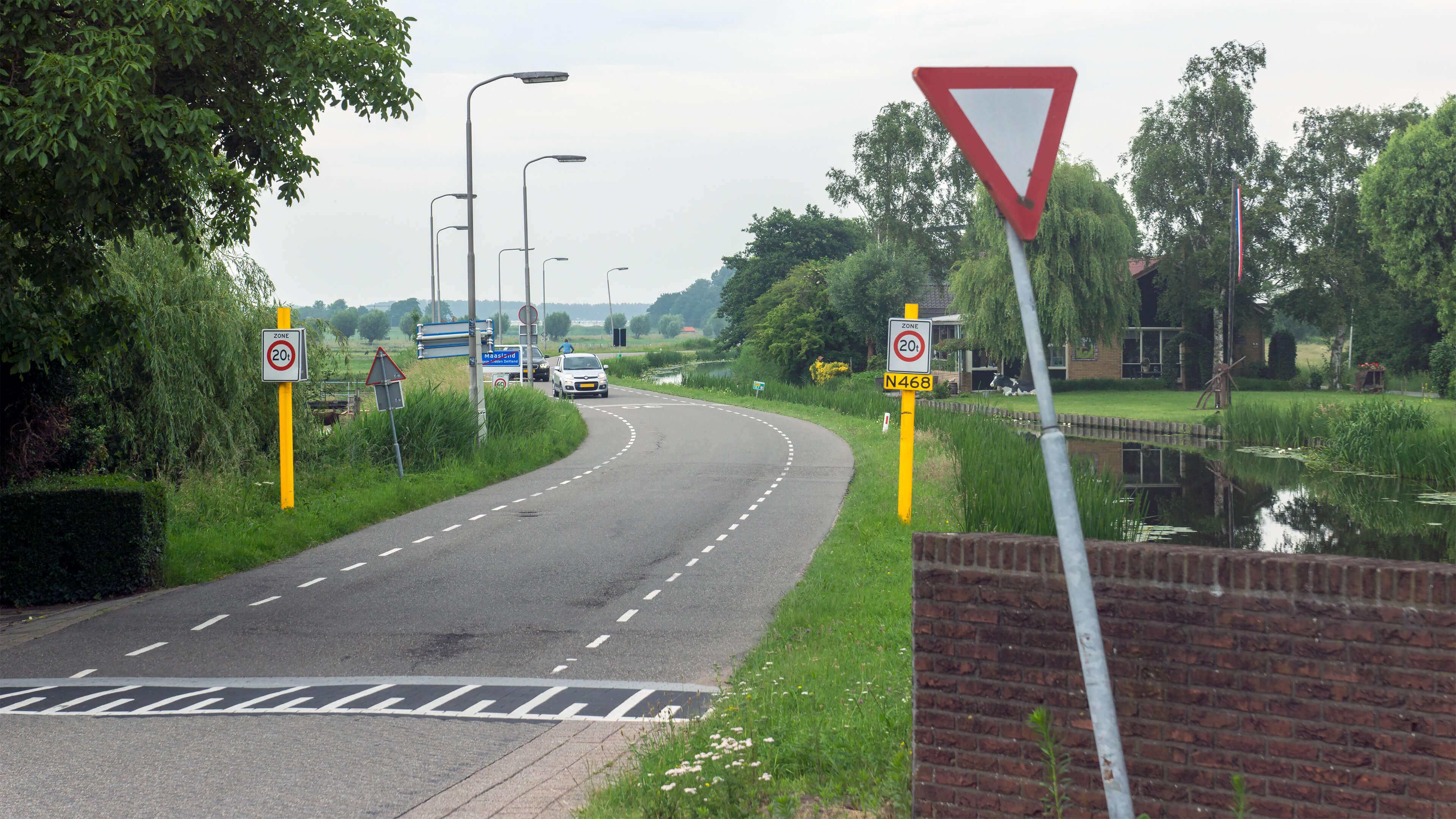 Foto van de Molenweg in Maasland. De foto wordt gebruikt op de pagina met de checklist aangaande het levenstestament.